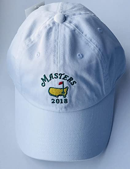 bcf204ef04f Image Unavailable. Image not available for. Color  2018 Masters golf hat  white Augusta National new American needle pga