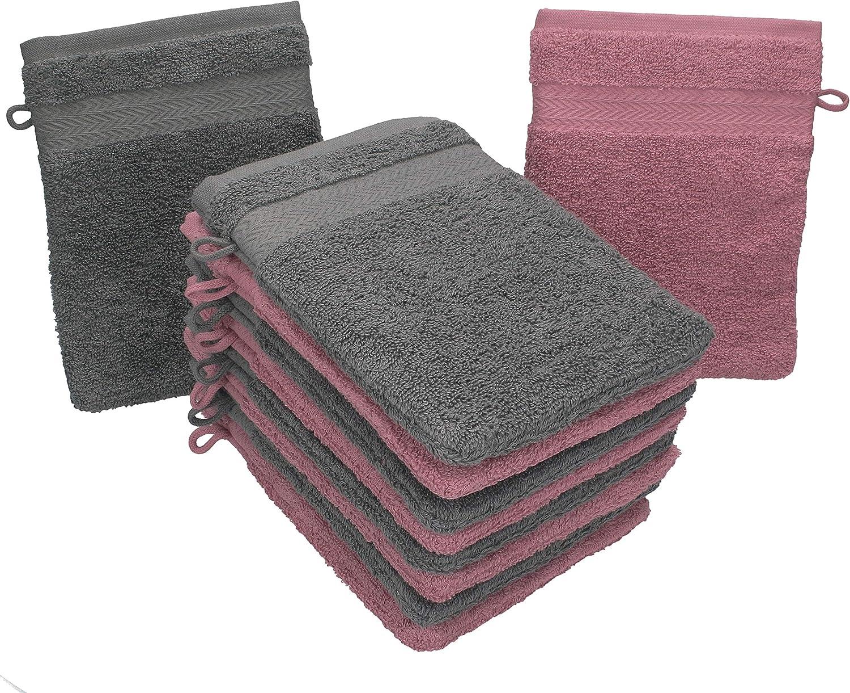 """Betz lot de 12 gants de toilette /""""uni/"""" 15x22 cm"""