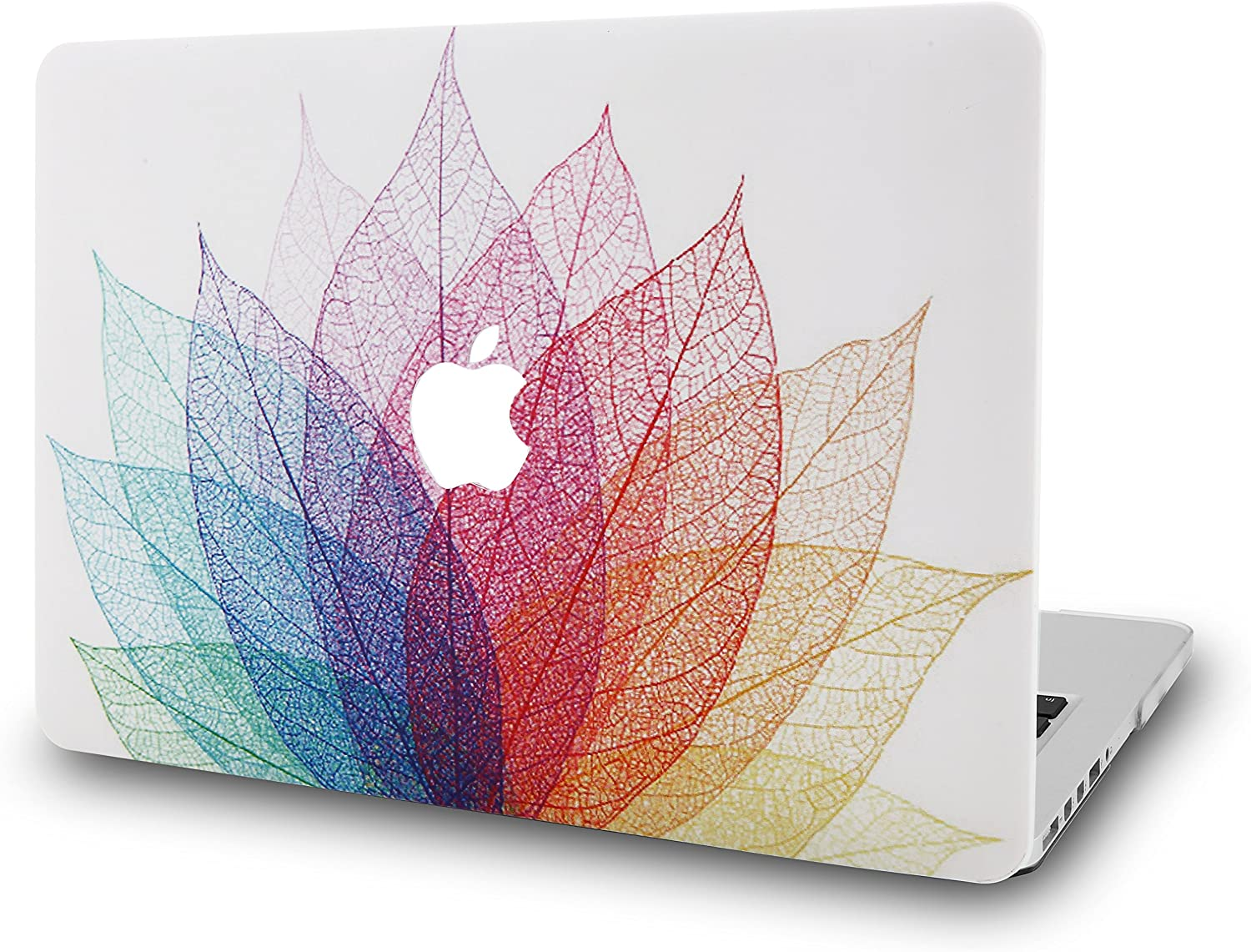 """KECC Laptop Case for MacBook Air 13"""" Retina (2020/2019/2018, Touch ID) Plastic Case Hard Shell Cover A2179/A1932 (Leaf - Colorful 2)"""