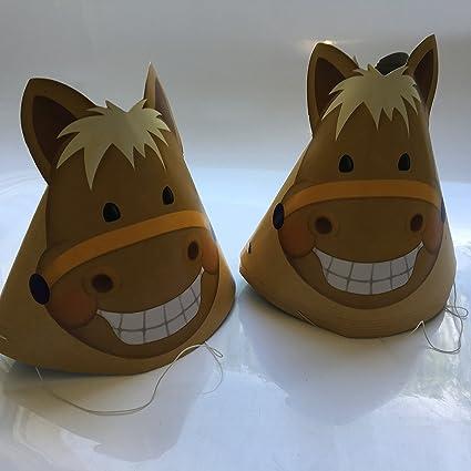 8 gorros de fiesta de pony, para cumpleaños, para niños o para fiestas temáticas