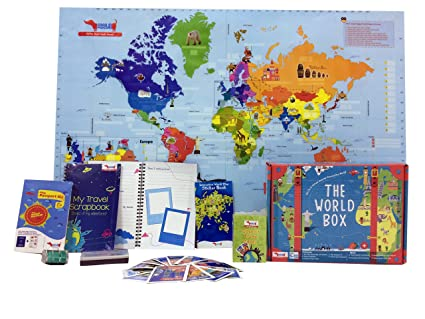 Buy traveller kids world box learn geography with maps passport traveller kids world box learn geography with maps passport scrapbook for kids age 5 gumiabroncs Image collections