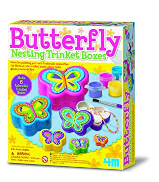Design your own butterfly nesting trinket boxes after school design your own butterfly nesting trinket boxes after school activity kit popular creative negle Gallery