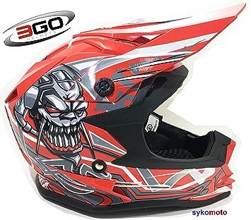 3GO X10-K FAMOSO CRÁNEO DISEÑO NIÑOS Y NIÑAS MOTOCROSS QUAD ATV DIRT OFF ROAD