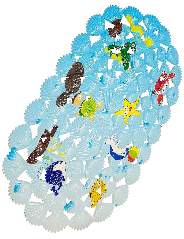 WARRAH Alfombra de baño multiusos / material de PVC para la estera de la estera del bebé no estera para los niños y la ducha Coral Fish