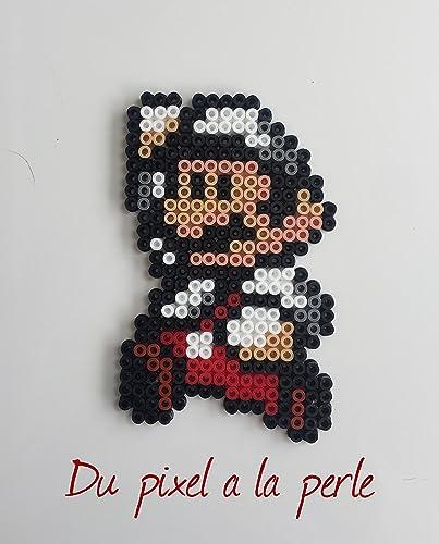 Mario Fleur En Perles Hamamagnet Pixel Art Perler Beads