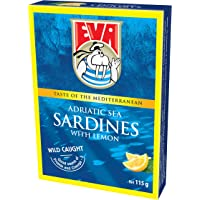 Eva Adriatic Sea Sardines in Vegetable Oil with Lemon 115 g,  115 g