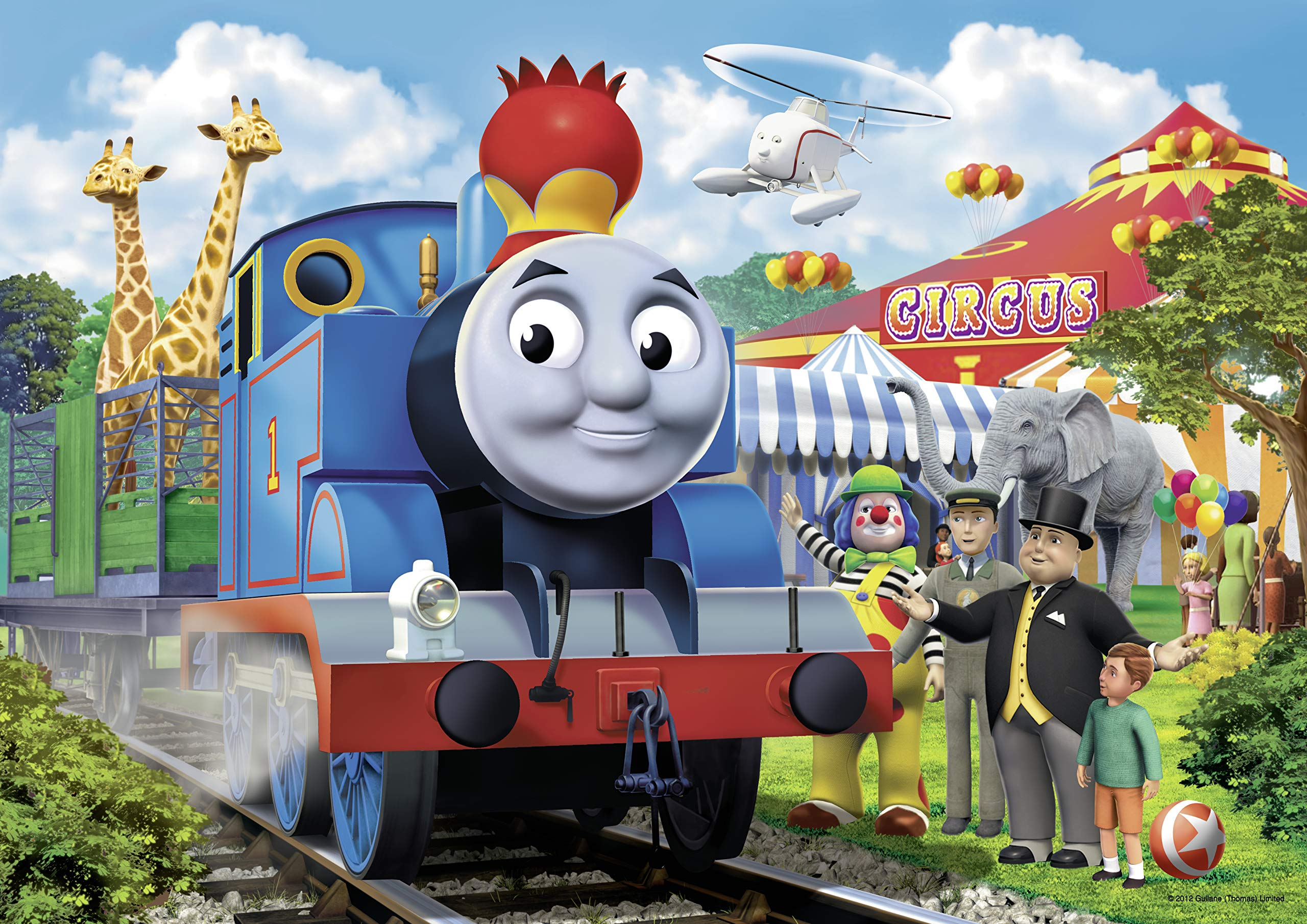 Ravensburger Thomas & Friends Circus Fun Floor Puzzle in a Suitcase Box, 24-Piece Jigsaw Puzzle for Kids – Every Piece is Unique, Pieces Fit Together Perfectly