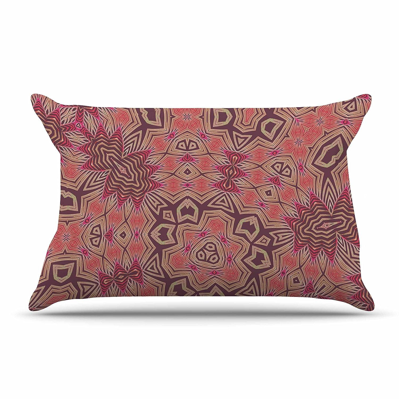 30 x 20 Pillow Sham Kess InHouse Alison Coxon Tribal Fire Tan Red Digital