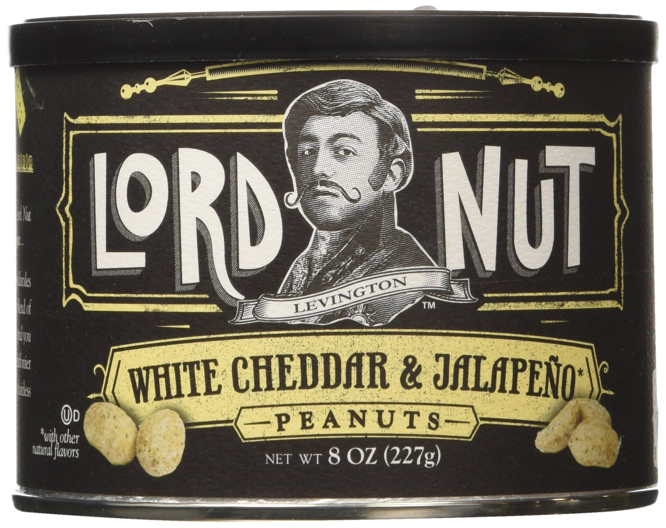 Lord Nut Levington Peanuts, White Cheddar & Jalapeno, 8 Ounce
