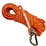 Deluxe Magnet Fishing Rope and Carabiner 52 FT(16M)   2000LB Factory Rated   8mm Thick   Premium Fishing Magnet Rope…