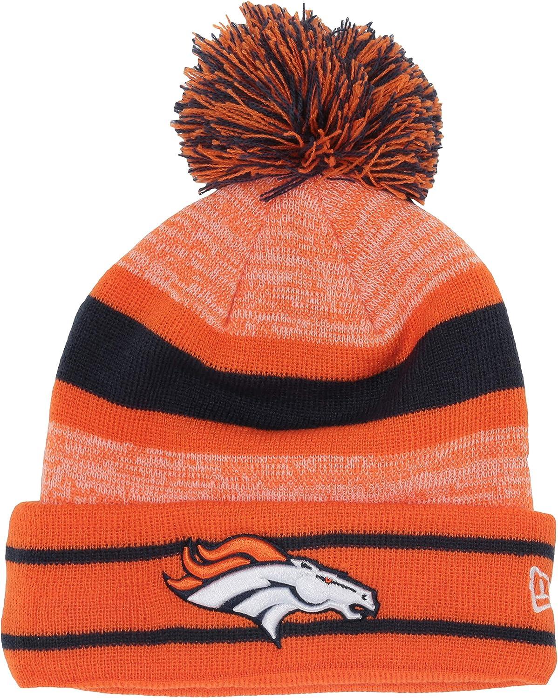 New Era Denver Broncos Pom Knit