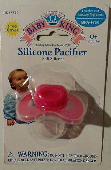 Amazon.com: Bebé chupete con tapa, de bebé King (Plain): Baby