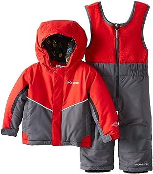 Columbia - Mono y chaqueta de esquí para niños Bright Red/Graphite Talla:104cm