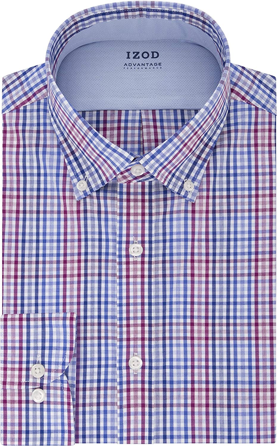 IZOD Men's TALL FIT Dress Shirt Stretch Cool FX Cooling Collar Check (Big and Tall)