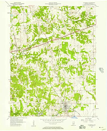 Amazon.com: Indiana Maps | 1956 Cloverdale, in USGS Historical