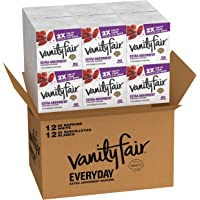 Vanity Fair Extra Absorbent Napkins, 960 Count, Premium White Napkins, White Paper Napkins for Messy Meals