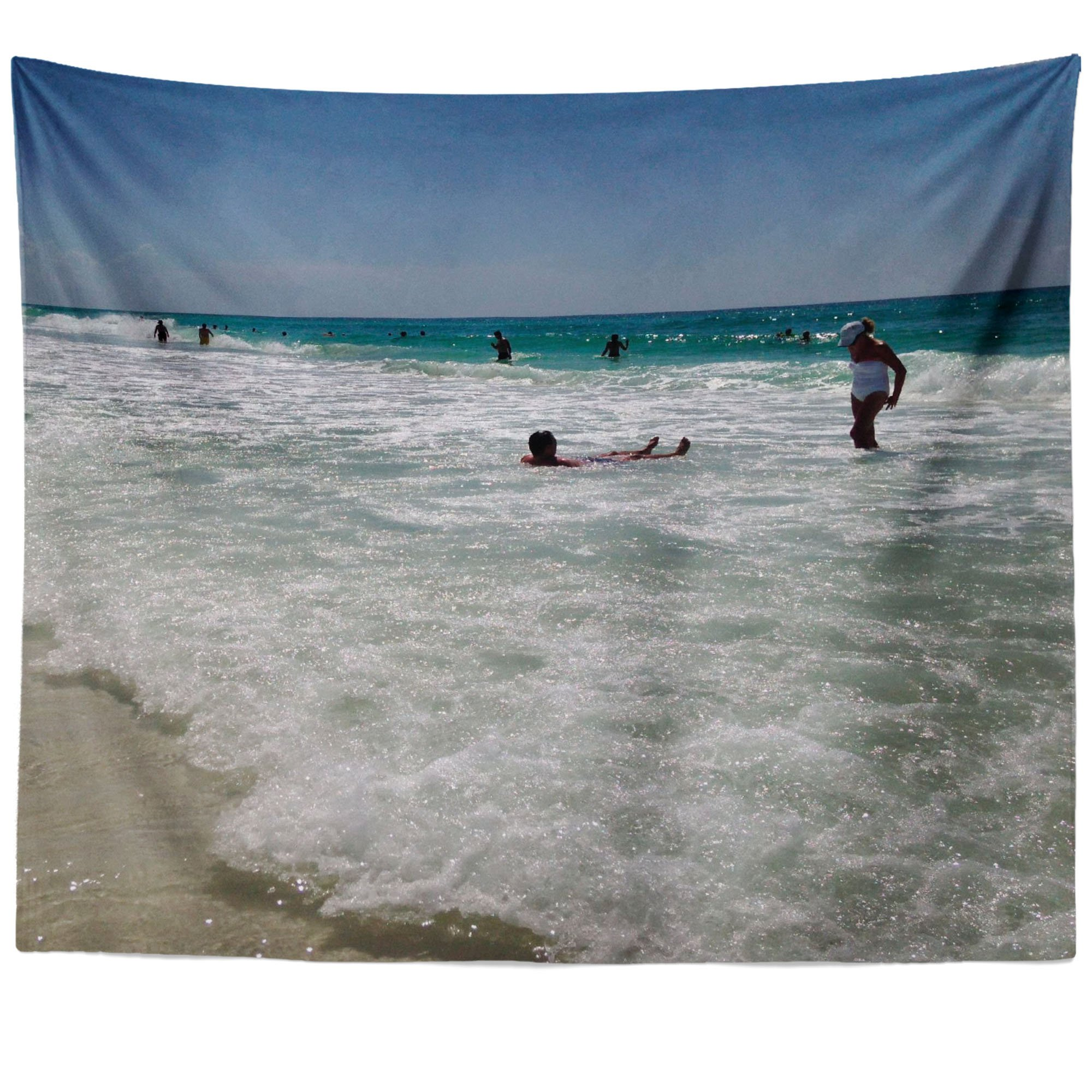 Westlake Art - Beach Everyday - Wall Hanging Tapestry - Picture Photography Artwork Home Decor Living Room - 68x80 Inch (D41D8)