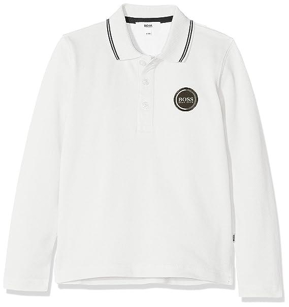 3bdc706fb8574 BOSS Boy s Polo Manches Longues Shirt  Amazon.co.uk  Clothing