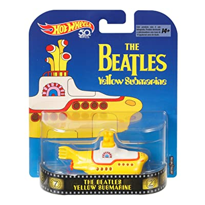 Hot Wheels Beatles Yellow Submarine, 1:64 Scale: Toys & Games