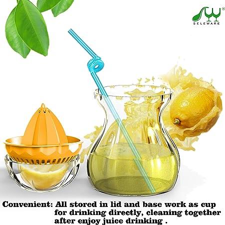 Compra SELEWARE Exprimidor Manual, Limon Exprimidor Contenedor Set con Tapa, Adecuado para Jugo de Naranja, Limones ...