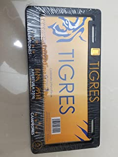 TIGRES UANL SPECIAL EDITION LICENSE PLATE FRAME 2 PIECES OFFICIAL PRODUCT CAMPEONES