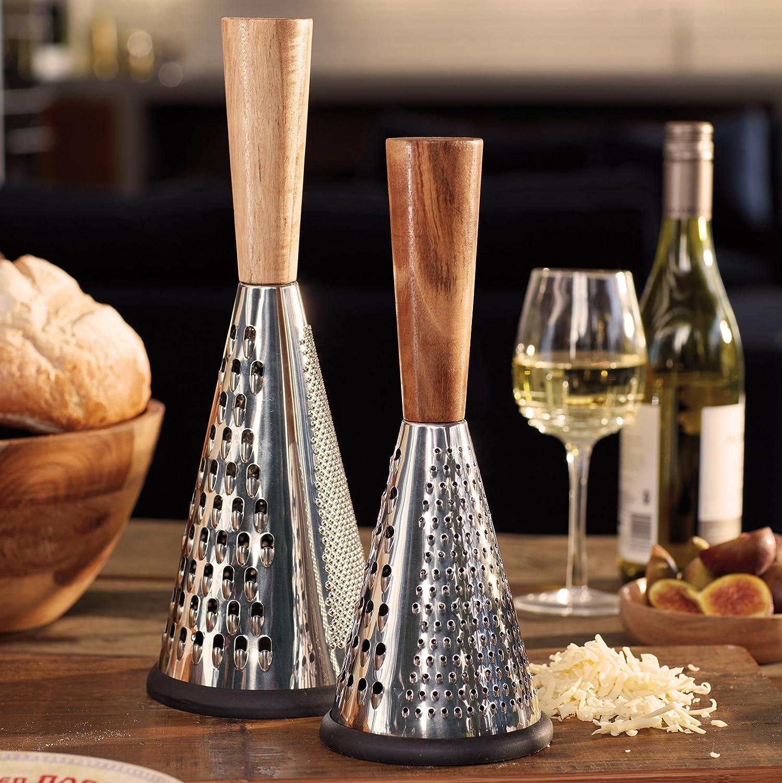 Argent//Marron Creative Tops Gourmet Petite Vintage Conique R/âpe /à Fromage avec Manche en Bois 11/x 11/x 28/cm 11,4/x 11,4/x 27,9/cm en Acier Inoxydable 11/x 11/x 28.3/cm