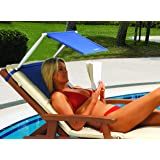 Portable Folding Beach Sun Shade | Face Shader with Small Inflatable Cushion / Pillow | Sunshade For Use With Sun Lounger or Garden Chair
