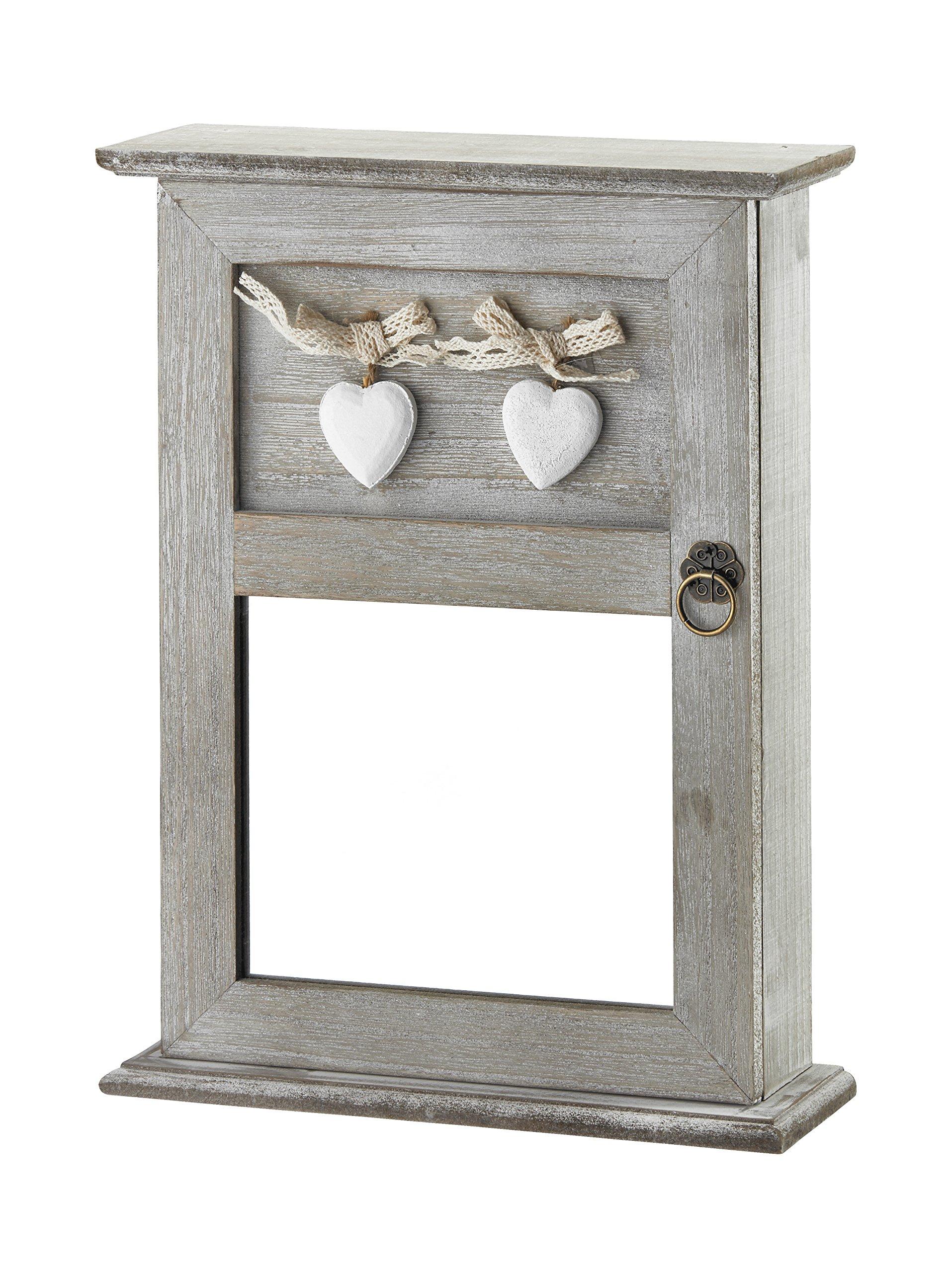 AdirHome Wood Key Cabinet Box (Barn Siding)