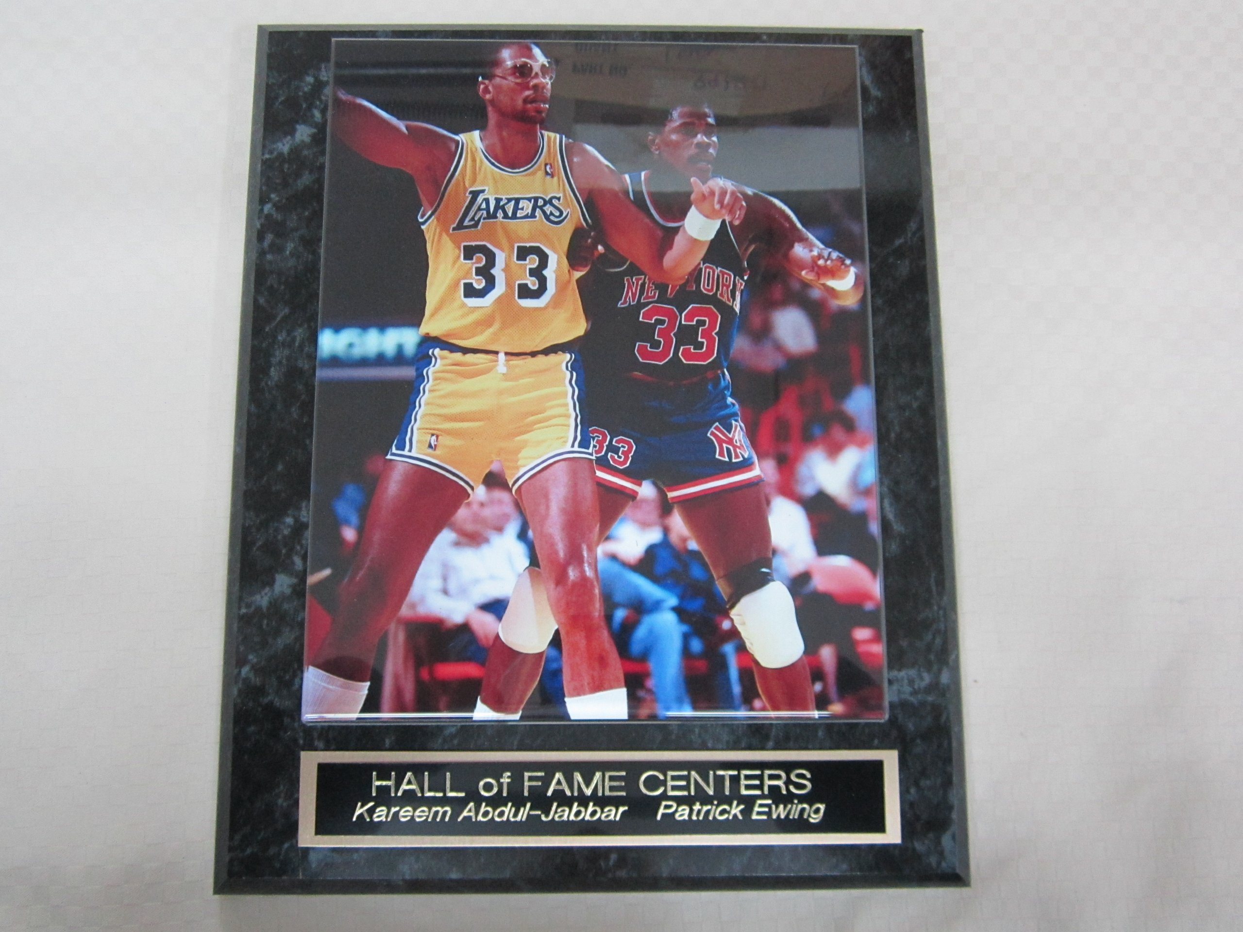 Kareem Abdul Jabbar Patrick Ewing Collector Plaque w/Color 8x10 Photo