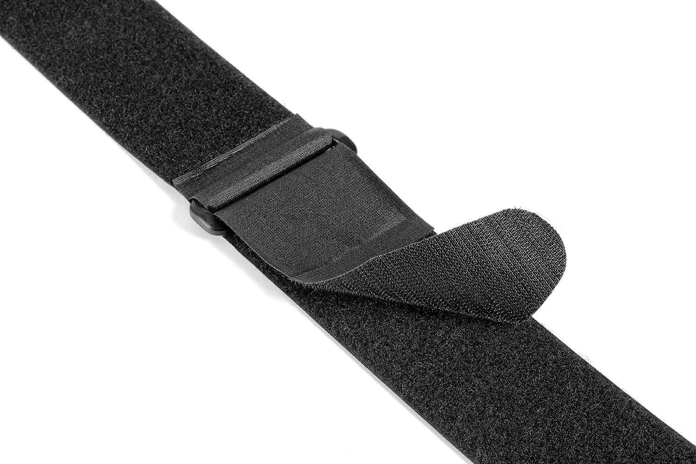 5 x 92 cm Tiras de velcro ajustables color negro Velcro VEL-EC60329