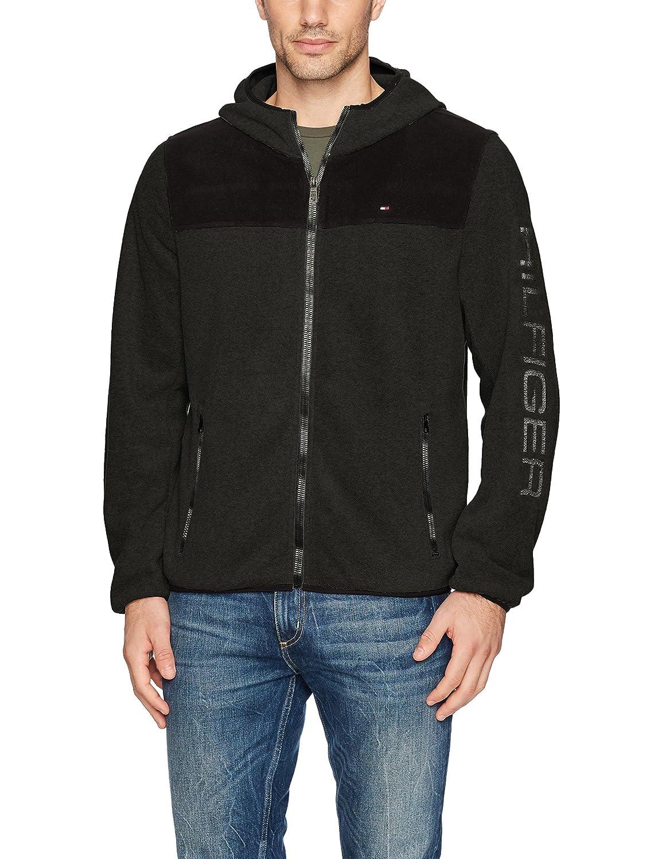 Tommy Hilfiger Mens Hooded Performance Fleece Jacket