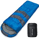 MalloMe Camping Sleeping Bag - 3 Season Warm & Cool Weather - Summer, Spring, Fall, Lightweight, Waterproof for Adults & Kids