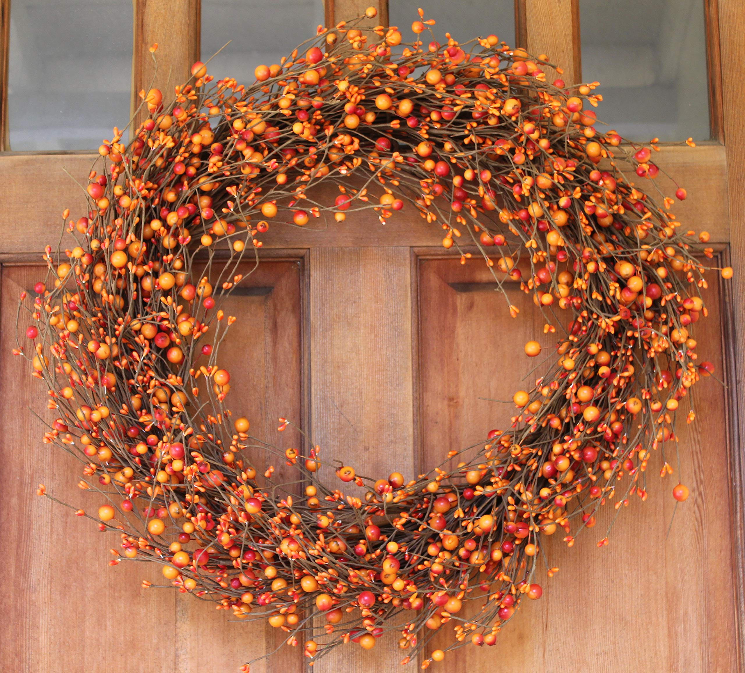 The Wreath Depot Weston Fall Berry Wreath, 22 Inches by The Wreath Depot (Image #3)