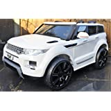 Kids Range Rover HSE Sport Style 12v Electric / Battery Ride on Car Jeep - White includes EVA Tire upgrade