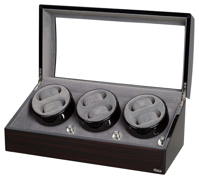 Amazon.com: Ocho para 2 relojes Madera de Caoba W/LCD ...