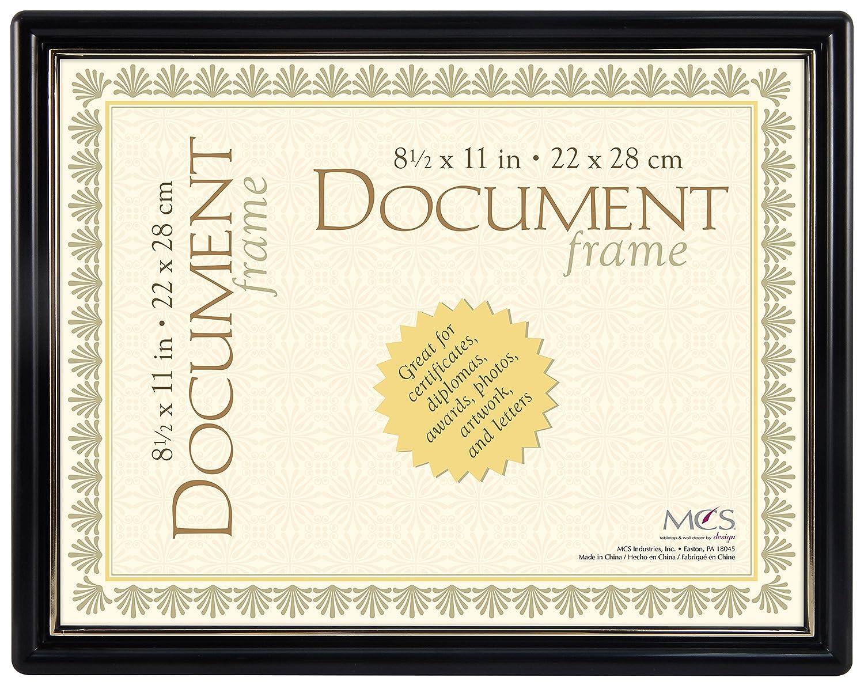 Amazon.de: MCS Contour Dokument Rahmen in schwarz und gold