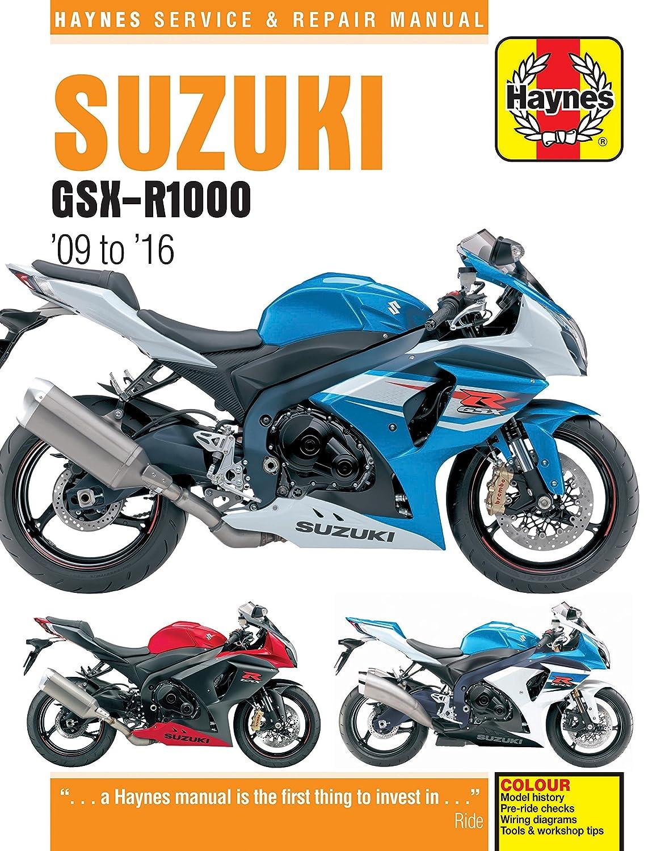 Haynes Suzuki Gsx R1000 09 16 Motorcycle Service Repair Manual Bmw F800st Wiring Diagram Car Motorbike