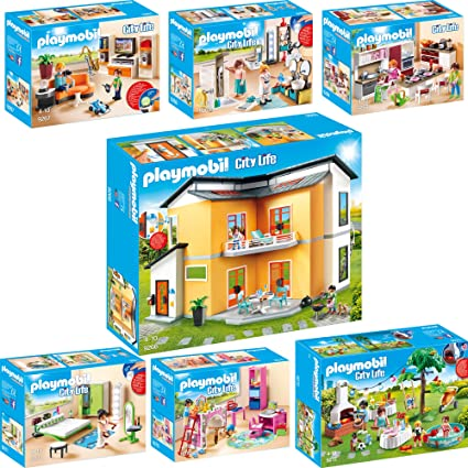 PLAYMOBIL® City Life 7er Set 9266 9267 9268 9269 9270 9271 9272 ...