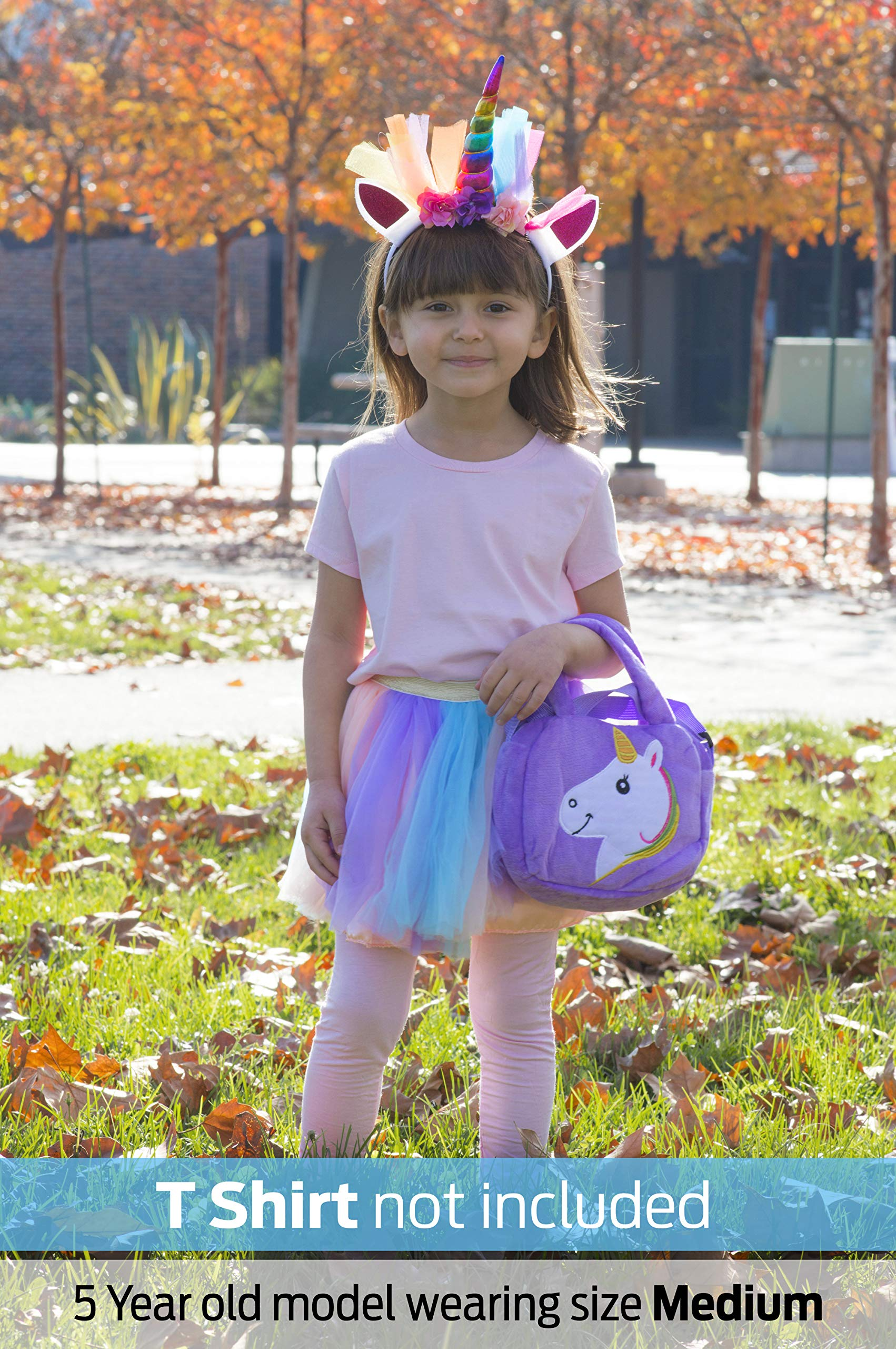 Cute Pink Rainbow Unicorn 4th Fourth Birthday Tutu Outfit Shirt Set Party Dress