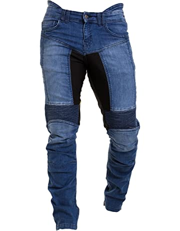 0b962e2911 Qaswa Hombre Motocicleta Pantalones Moto Jeans con Protección Aramida  Motorcycle Biker Pants