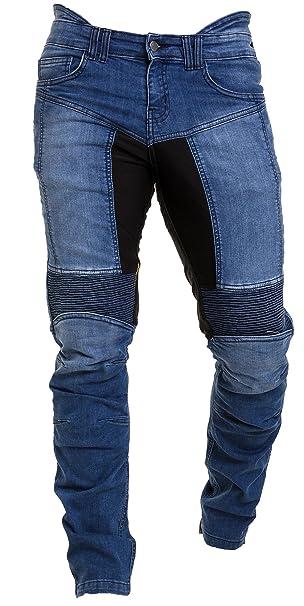 eea5cf4aa0 Qaswa Hombre Motocicleta Pantalones Moto Jeans con Protección Aramida  Motorcycle Biker Pants  Amazon.es  Ropa y accesorios