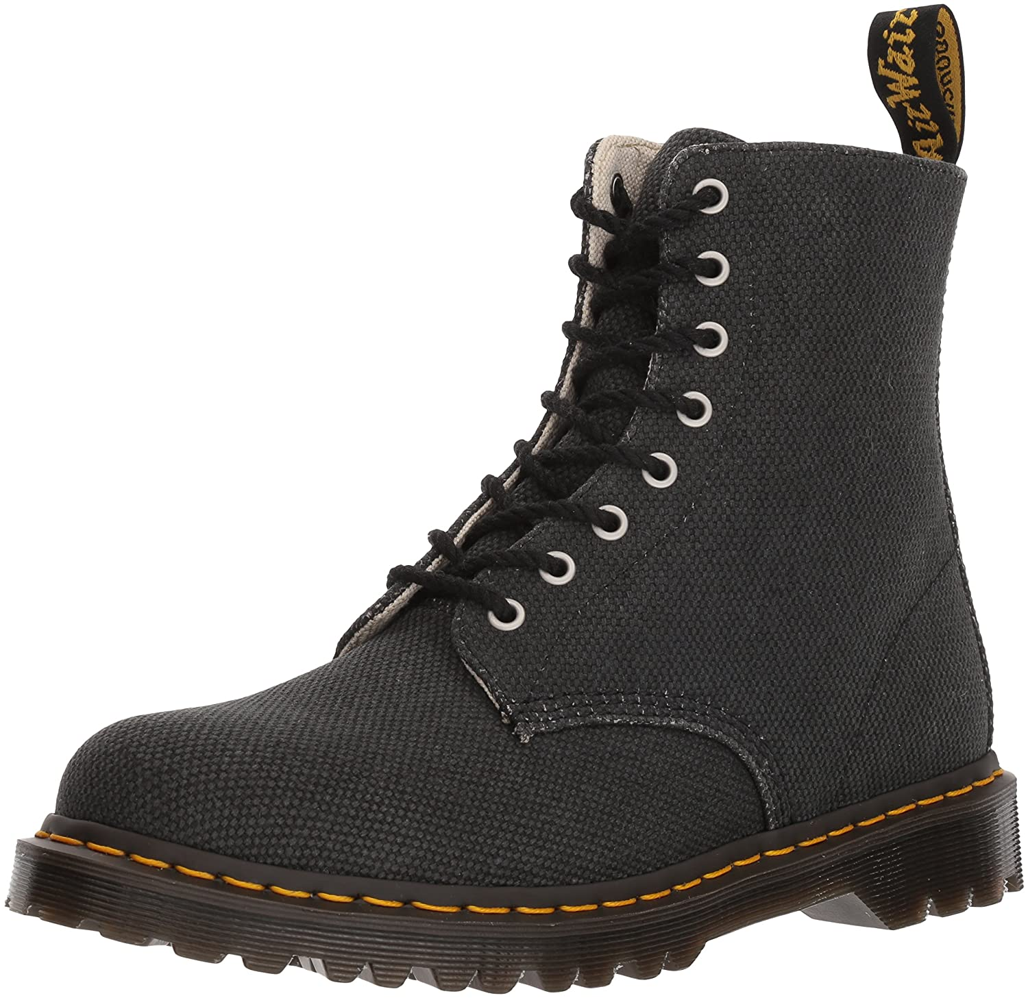 Dr. Martens Women's Black Military Canvas Pascal Fashion Boot