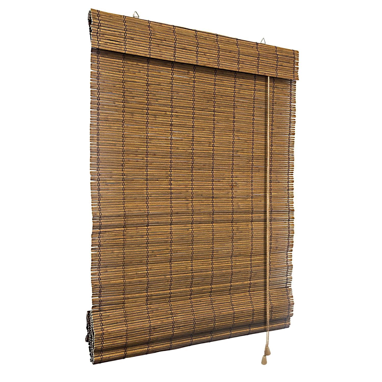 Amazon Bambus Raffrollo 60 x 160cm in braun Fenster