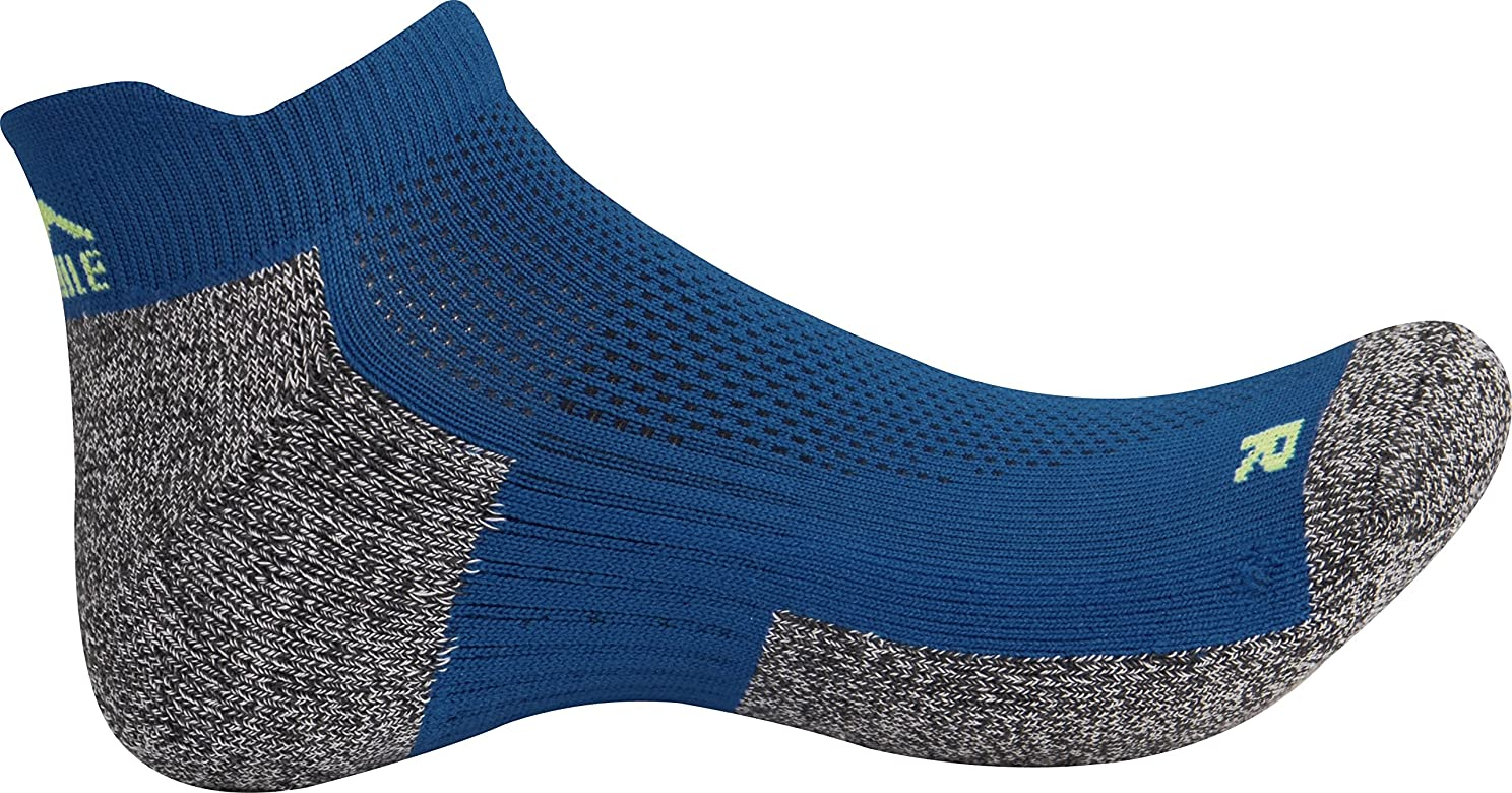 More Mile Miami Running Socks Black Cushioned Breathable Supportive Sports Sock