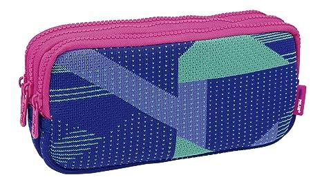 Milan Portatodo 3 Cremalleras Knit, Lila Estuches, 22 cm ...