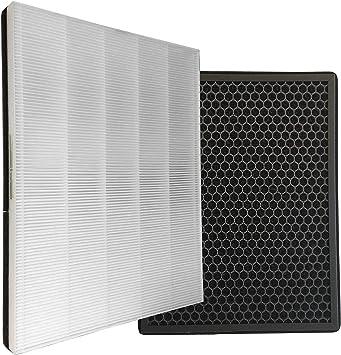 Comedes - Juego de filtros de repuesto para purificador de aire Philips AC1214/10 (1000 unidades) filtro HEPA y de carbón activo equivalente a Philips FY1410/30 y ...