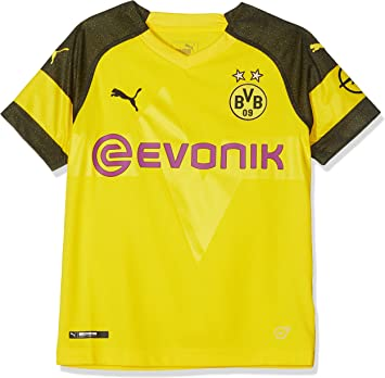 Puma Borussia Dortmund Bvb 2018 19 Kids Home Soccer Shirt Yellow 13 14 Years Football Amazon Canada