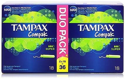 Tampax Compak Tampon con Aplicador Retráctil Compacto - 36 Unidades