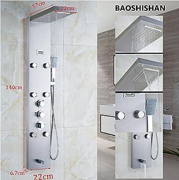 Grifo de la ducha Panel con pantalla digital de temperatura ...