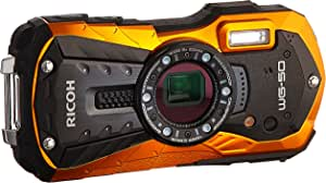 "Ricoh WG-50 16MP Waterproof Still/Video Camera Digital with 2.7"" LCD, (Orange)"
